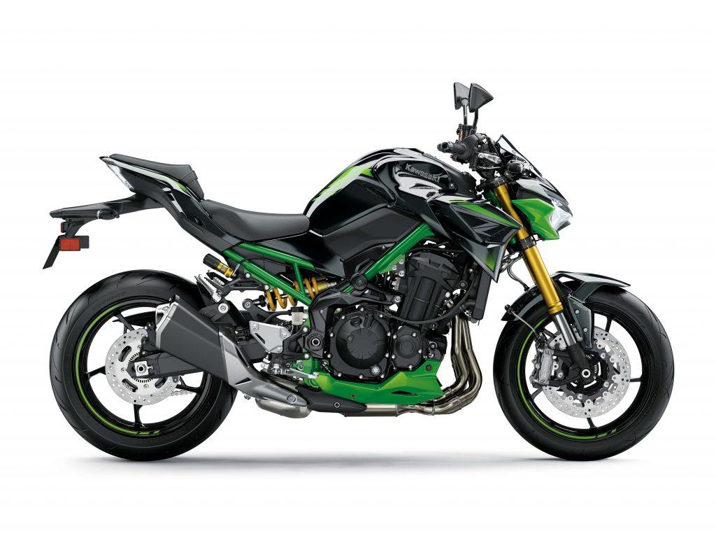 Kawasaki Z900 SE, cambiano i colori dei foderi delle forcelle. Ora dorati!